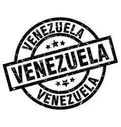Venezuela black round grunge stamp vector