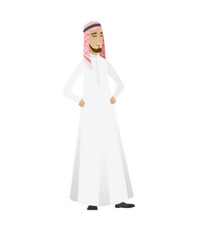 Young muslim businessman laughing vector