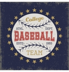 Baseball colored print vector