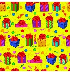 Gift colorful seamless pattern vector