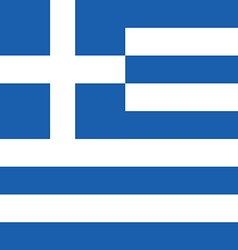 Greece flag hellas in blue and white color vector