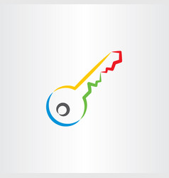 Colorful key icon symbol vector