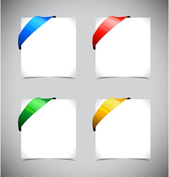 Set of color ribbons vector