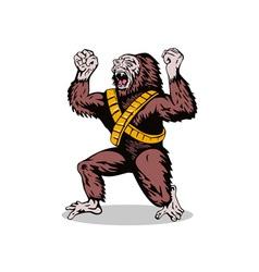 Villain Gorillaman Angry vector image