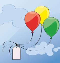 Three balloons vector