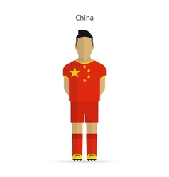 China football player soccer uniform vector