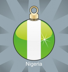 Nigeria flag on bulb vector