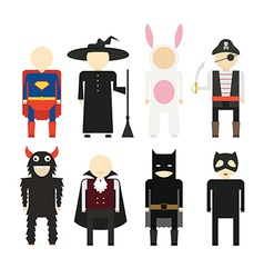Halloween costumes vector