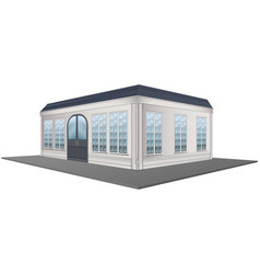 3d design for building with gray roof vector
