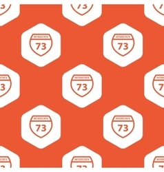 Orange hexagon interstate 73 pattern vector