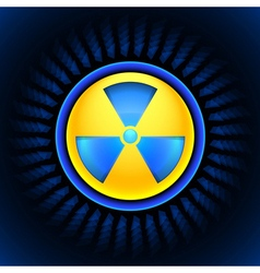 Sign of radiation blue vector