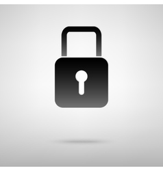 Lock black icon vector