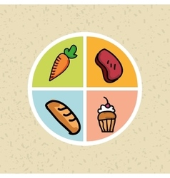 Nutritive food design vector