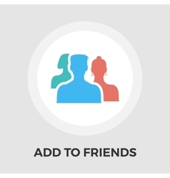 Add to friends flat icon vector