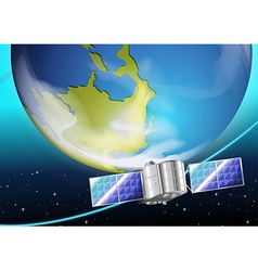 A satellite near the planet vector