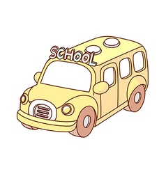 A school bus is parked vector image vector image