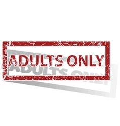 Adults only outlined stamp vector