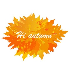 Autumn banner with the image of leaves vector image