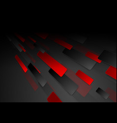 black and red hi-tech abstract background vector image vector image