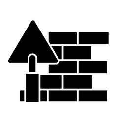brick wall - diy icon black vector image vector image