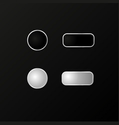 buttons for the phone a realistic model vector image vector image