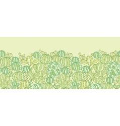 Cactus plants texture horizontal seamless pattern vector image vector image