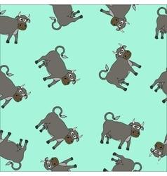 Cartoon cow seamless vector image vector image