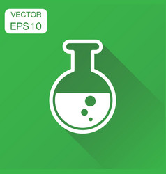 chemical test tube icon business concept vector image