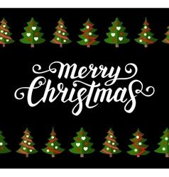 Christmas greeting card template vector image