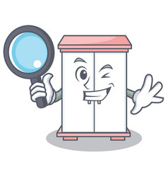 Detective cabinet character cartoon style vector