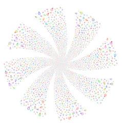 Electric bulb fireworks swirl flower vector
