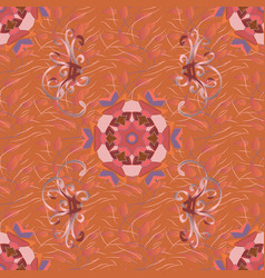 gentle summer floral background flowers on orange vector image vector image
