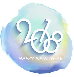 happy new year background with watercolour texture vector image vector image