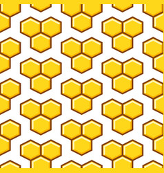 honeycomb yellow seamless pattern vector image