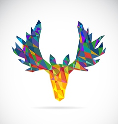 Image of an deer head design vector