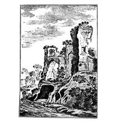 Improvised ruin origins in a particular vector