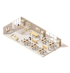 isometric low poly office vector image vector image
