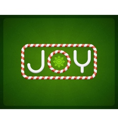 Merry Christmas Joy postcard vector image vector image