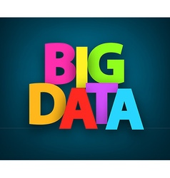 Paper big data sign vector image vector image