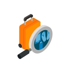Scanning luggage isometric 3d icon vector