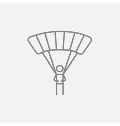 Skydiving line icon vector image