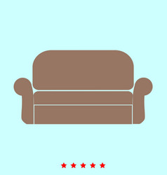 sofa set it is color icon vector image vector image
