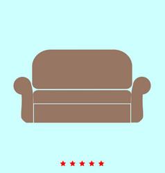 sofa set it is color icon vector image