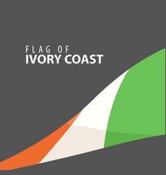 stylish flag of ivory coast against a dark vector image vector image
