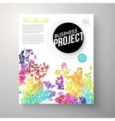 Stylish multicolored business project template vector