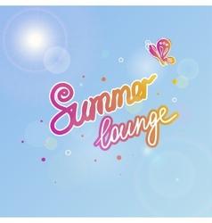 Summer sky vector image