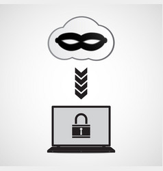 Technology digital cyber security laptop lock vector