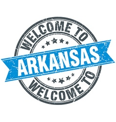 Welcome to arkansas blue round vintage stamp vector