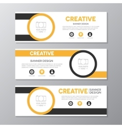 Yellow and brown corporate business banner vector image