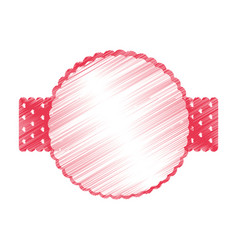 Elegant frame with ribbon vector